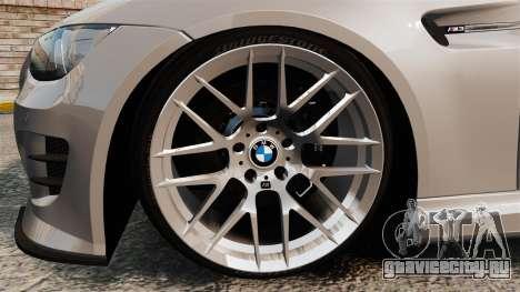BMW M3 E92 GTS 2010 для GTA 4 вид сзади
