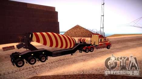 Cement Mixer для GTA San Andreas вид сзади слева