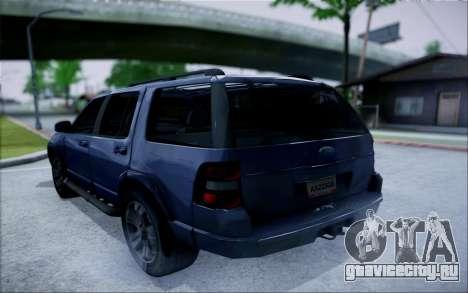 Ford Explorer Eddie Bauer 2011 для GTA San Andreas вид слева