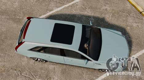 Cadillac CTS SW 2010 для GTA 4 вид справа