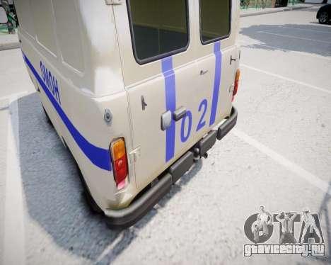 УАЗ 3741 ОМОН для GTA 4 вид справа
