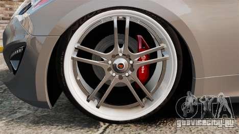 Hyundai Genesis Coupe 2013 для GTA 4 вид сзади