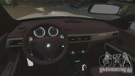 BMW M3 E92 GTS 2010 для GTA 4 вид изнутри