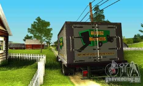 GMC Top Kick C4500 Dryvan House Movers 2008 для GTA San Andreas вид сбоку