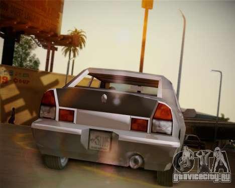 GTA III Kuruma для GTA San Andreas вид сзади