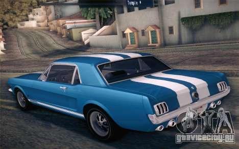 Ford Mustang GT 289 Hardtop Coupe 1965 для GTA San Andreas двигатель