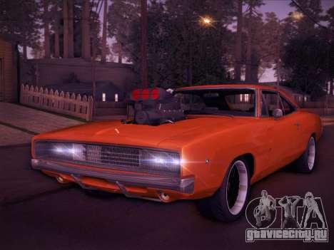 Dodge Charger RT V2 для GTA San Andreas вид слева