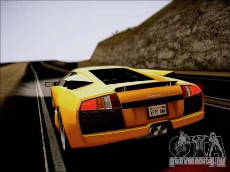 Lamborghini Murciélago 2005 для GTA San Andreas вид изнутри