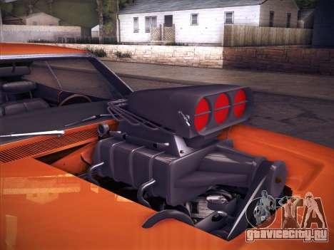 Dodge Charger RT V2 для GTA San Andreas вид сзади