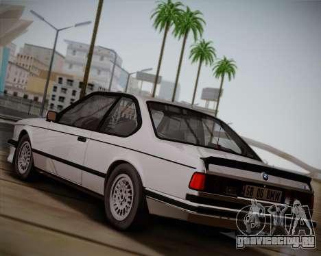 BMW E24 M635 1984 для GTA San Andreas вид сзади слева
