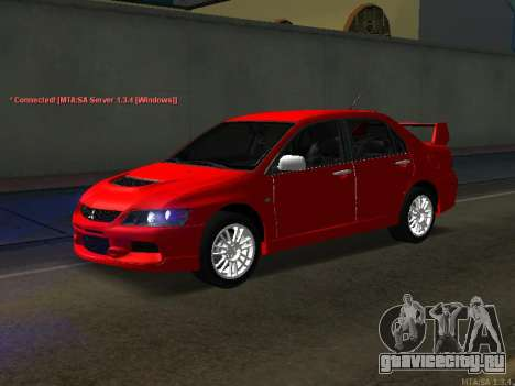 Mitsubishi Lancer Evo VIII для GTA San Andreas вид справа