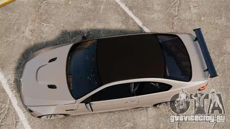 BMW M3 E92 GTS 2010 для GTA 4 вид справа