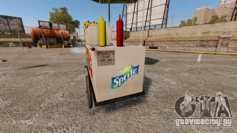 Новые текстуры хот-дог тележек для GTA 4 шестой скриншот