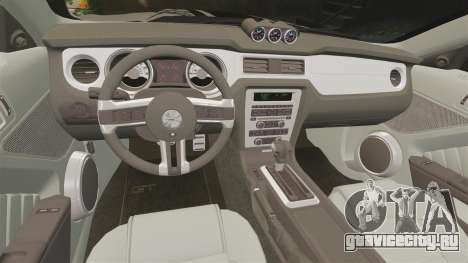Ford Mustang 2012 Boss 302 Fiery Horse для GTA 4 вид сбоку