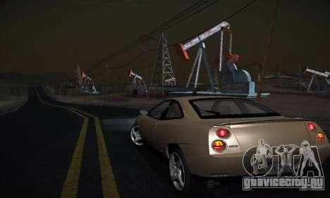 Fiat Coupe для GTA San Andreas вид сзади слева