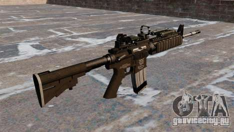 Автоматический карабин M4 Red Dot Black Edition для GTA 4 второй скриншот