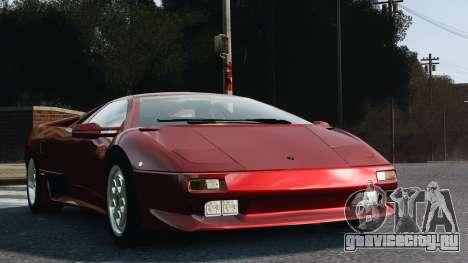 Lamborghini Diablo VT 1994 для GTA 4 вид сзади слева
