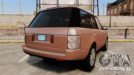 Range Rover TDV8 Vogue для GTA 4 вид сзади слева