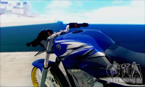 Yamaha 225R Scorpio Z для GTA San Andreas вид сзади слева