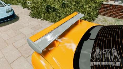 Nissan Skyline R34 GT-R NFS Underground для GTA 4 вид сзади