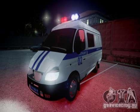 ГАЗель 2705 Полиция для GTA 4 вид сверху