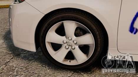 Toyota Prius 2011 Warsaw Taxi v3 для GTA 4 вид сзади