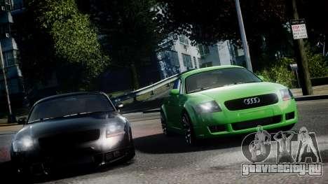 Audi TT Coupe 3.2 Quattro 2004 для GTA 4 вид сзади слева