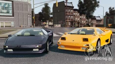 Lamborghini Diablo VT 1994 для GTA 4 салон