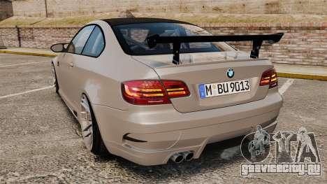 BMW M3 E92 GTS 2010 для GTA 4 вид сзади слева