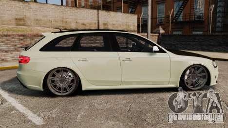 Audi RS4 Avant VVS-CV4 2013 для GTA 4 вид слева