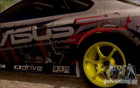 Nissan S15 Asus Team для GTA San Andreas вид сзади