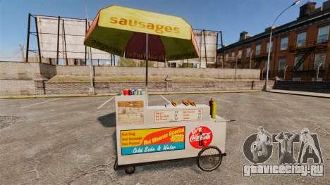Новые текстуры хот-дог тележек для GTA 4 пятый скриншот