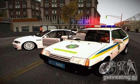 ВАЗ 2108 ДПС Украина для GTA San Andreas