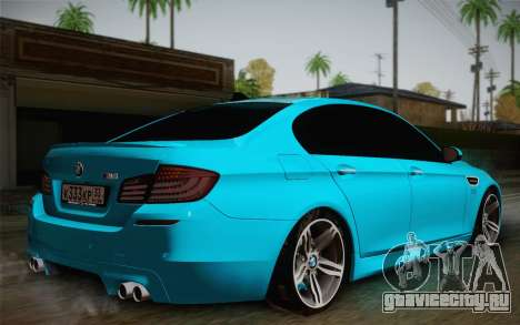 BMW M5 F10 v1 для GTA San Andreas вид слева