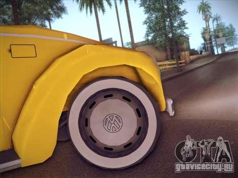 Volkswagen Käfer для GTA San Andreas вид изнутри