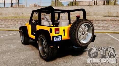 Jeep Wrangler Rubicon 2012 для GTA 4 вид сзади слева
