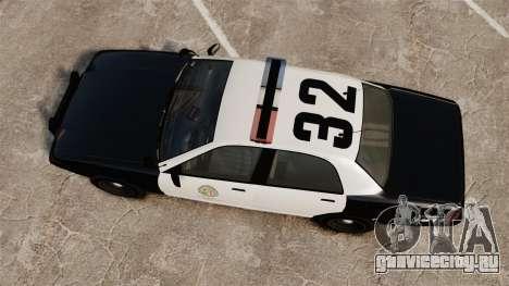 GTA V Police Cruiser [ELS] для GTA 4 вид справа