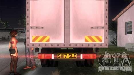 Mercedes Benz Atego для GTA Vice City вид сзади слева