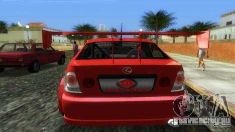 Lexus IS200 для GTA Vice City вид сзади слева