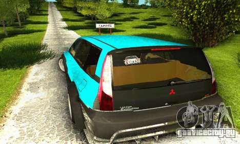 Mitsubishi Evo IX Wagon S-Tuning для GTA San Andreas вид сбоку