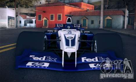 BMW Williams F1 для GTA San Andreas вид сверху