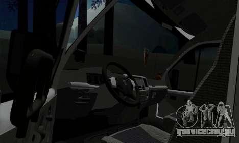ГАЗель Бизнес 33023 для GTA San Andreas вид сзади