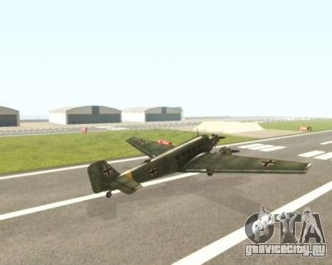 Junkers Ju-52 для GTA San Andreas вид справа