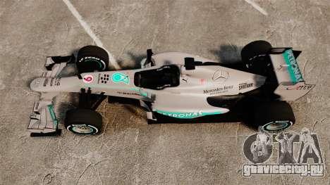 Mercedes AMG F1 W04 v5 для GTA 4 вид справа
