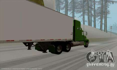 International 9400i Skyrise для GTA San Andreas вид сзади слева