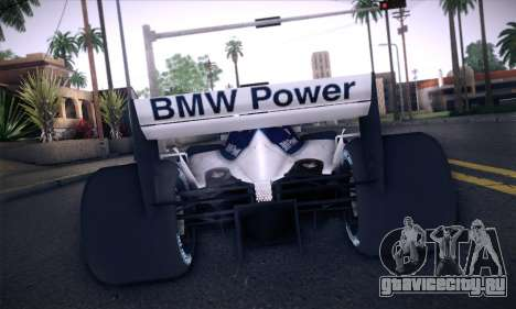 BMW Williams F1 для GTA San Andreas вид сбоку