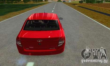 ВАЗ 2190 Гранта Stock для GTA San Andreas вид сзади