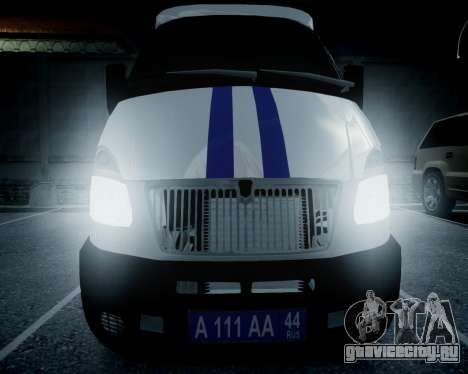 ГАЗель 2705 Полиция для GTA 4 вид справа
