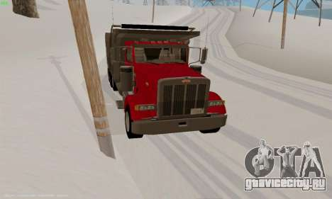 Peterbilt 379 Dump Truck для GTA San Andreas вид сзади