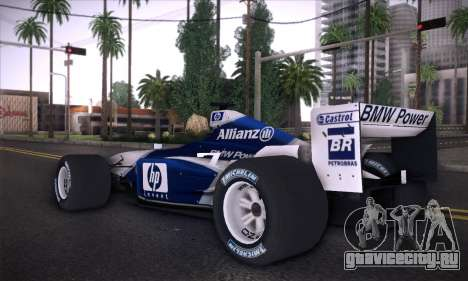 BMW Williams F1 для GTA San Andreas вид слева